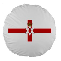 Ulster Banner Large 18  Premium Round Cushions