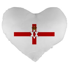 Ulster Banner Large 19  Premium Heart Shape Cushions
