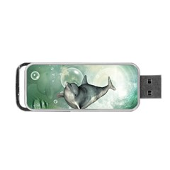 Funny Dswimming Dolphin Portable Usb Flash (one Side)