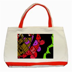 Elegant Abstract Decor Classic Tote Bag (red) by Valentinaart