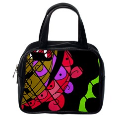 Elegant Abstract Decor Classic Handbags (one Side) by Valentinaart