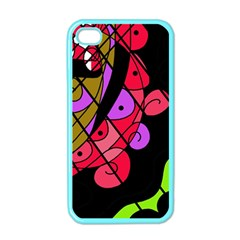 Elegant Abstract Decor Apple Iphone 4 Case (color) by Valentinaart