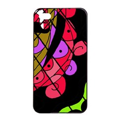 Elegant Abstract Decor Apple Iphone 4/4s Seamless Case (black) by Valentinaart