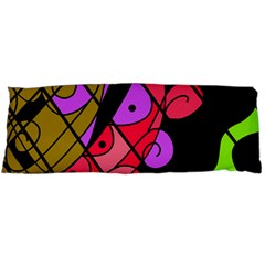 Elegant Abstract Decor Body Pillow Case (dakimakura) by Valentinaart