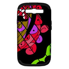 Elegant Abstract Decor Samsung Galaxy S Iii Hardshell Case (pc+silicone) by Valentinaart