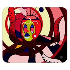 Octopus Double Sided Flano Blanket (small)  by Valentinaart