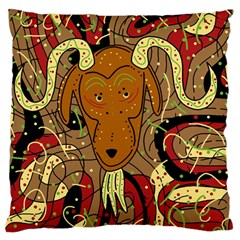 Billy Goat Standard Flano Cushion Case (two Sides) by Valentinaart