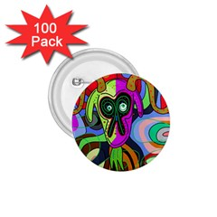 Colorful Goat 1 75  Buttons (100 Pack)  by Valentinaart