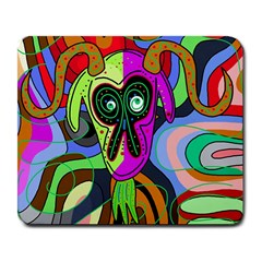 Colorful Goat Large Mousepads by Valentinaart