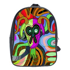Colorful Goat School Bags(large)  by Valentinaart