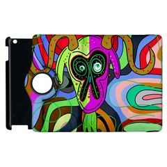 Colorful Goat Apple Ipad 3/4 Flip 360 Case by Valentinaart