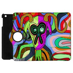 Colorful Goat Apple Ipad Mini Flip 360 Case by Valentinaart