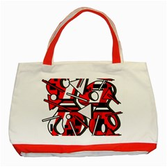 88 Classic Tote Bag (red) by Valentinaart