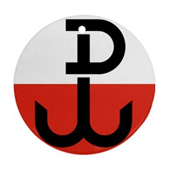 Flag Of The Polish Underground State, 1939 1945 Round Ornament (two Sides)