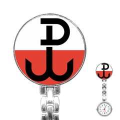 Flag Of The Polish Underground State, 1939-1945 Stainless Steel Nurses Watch by abbeyz71