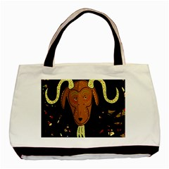 Billy Goat 2 Basic Tote Bag (two Sides) by Valentinaart