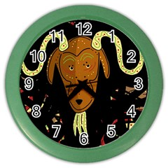 Billy Goat 2 Color Wall Clocks by Valentinaart