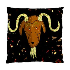 Billy Goat 2 Standard Cushion Case (two Sides) by Valentinaart