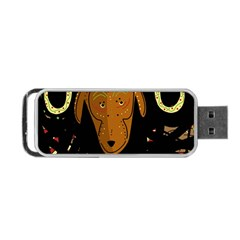 Billy Goat 2 Portable Usb Flash (two Sides) by Valentinaart