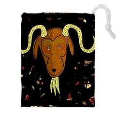 Billy Goat 2 Drawstring Pouches (xxl) by Valentinaart