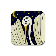 Crane 2 Rubber Square Coaster (4 Pack)  by Valentinaart