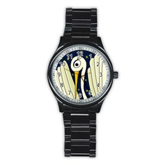 Crane 2 Stainless Steel Round Watch by Valentinaart