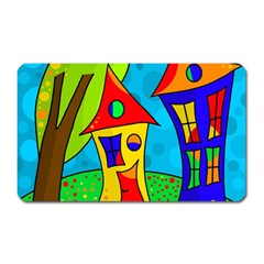 Two Houses  Magnet (rectangular) by Valentinaart
