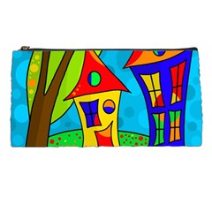 Two Houses  Pencil Cases by Valentinaart