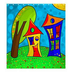 Two Houses  Shower Curtain 66  X 72  (large)  by Valentinaart