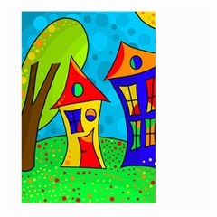 Two Houses  Large Garden Flag (two Sides) by Valentinaart