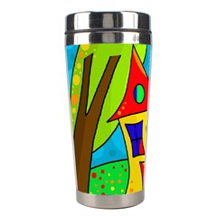 Two Houses  Stainless Steel Travel Tumblers by Valentinaart