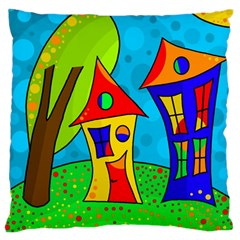 Two Houses  Standard Flano Cushion Case (two Sides) by Valentinaart