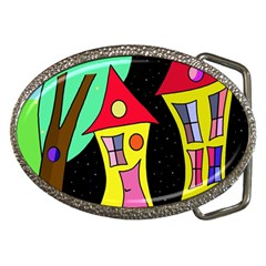 Two Houses 2 Belt Buckles by Valentinaart