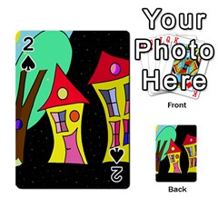 Two Houses 2 Playing Cards 54 Designs  by Valentinaart