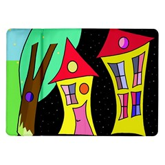 Two Houses 2 Samsung Galaxy Tab 10 1  P7500 Flip Case by Valentinaart