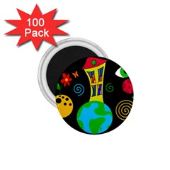 Playful Universe 1 75  Magnets (100 Pack)  by Valentinaart