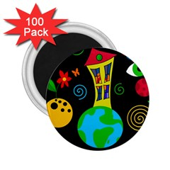 Playful Universe 2 25  Magnets (100 Pack)  by Valentinaart