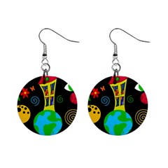 Playful Universe Mini Button Earrings