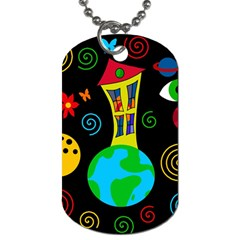 Playful Universe Dog Tag (two Sides) by Valentinaart