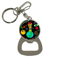 Playful Universe Bottle Opener Key Chains by Valentinaart