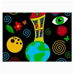 Playful universe Large Glasses Cloth (2-Side) Front