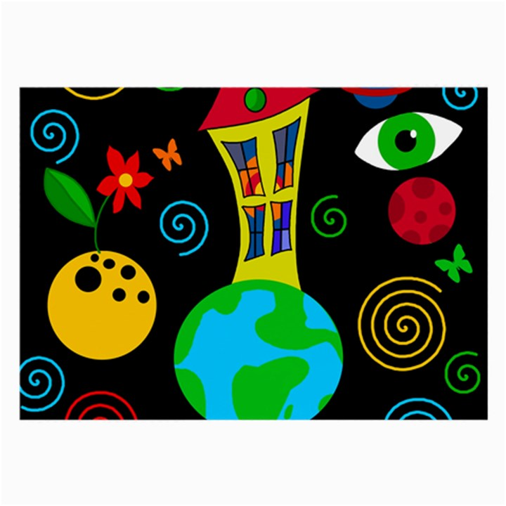 Playful universe Large Glasses Cloth (2-Side)