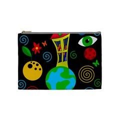 Playful Universe Cosmetic Bag (medium)  by Valentinaart