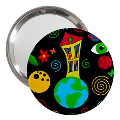Playful Universe 3  Handbag Mirrors by Valentinaart