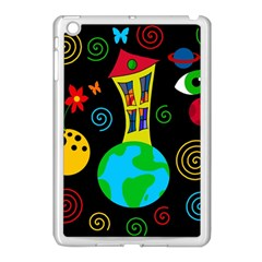 Playful Universe Apple Ipad Mini Case (white) by Valentinaart