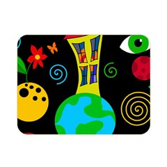 Playful Universe Double Sided Flano Blanket (mini)  by Valentinaart