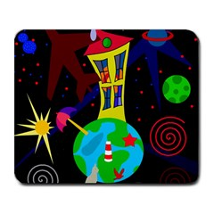Colorful Universe Large Mousepads by Valentinaart