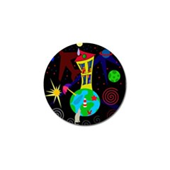 Colorful Universe Golf Ball Marker (4 Pack) by Valentinaart