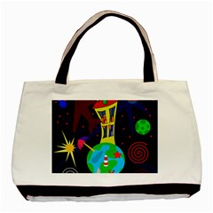 Colorful Universe Basic Tote Bag (two Sides) by Valentinaart