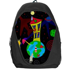 Colorful Universe Backpack Bag by Valentinaart